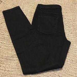 Women's high rise skinny jeans black wash 12 long